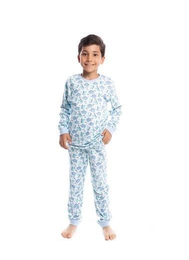 Pamuk & Pamuk Erkek Çocuk Sevimli Dinazor Desen Pamuklu Pijama Takımı Renkli